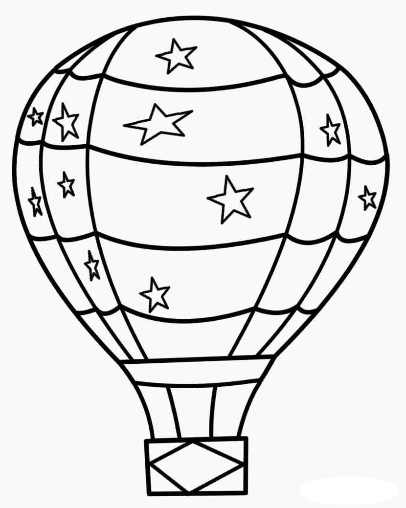 Hot-Air-Balloon-Coloring-Page-Online