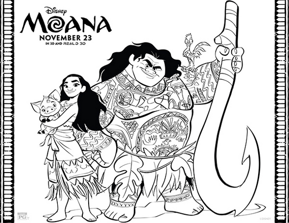 Moana-and-Mui-Coloring-page-printable
