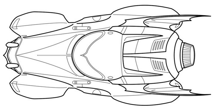 batman car coloring pages