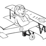 biplane-pilot-coloring-book