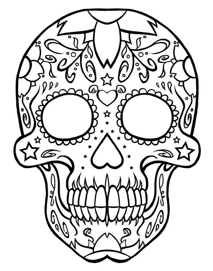 calavera-day-of-the-death-coloring-online