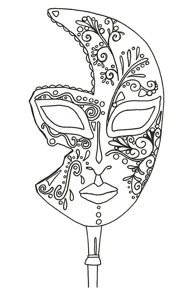 carnival-mask-coloring-picture