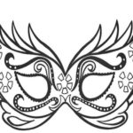 carnival-mask-colouring-online
