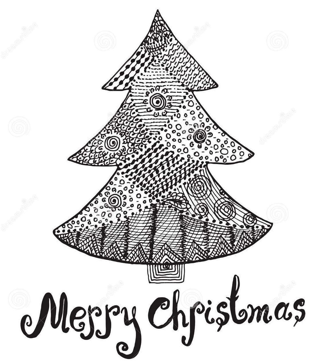 christmas-tree-zentangle-coloring-page