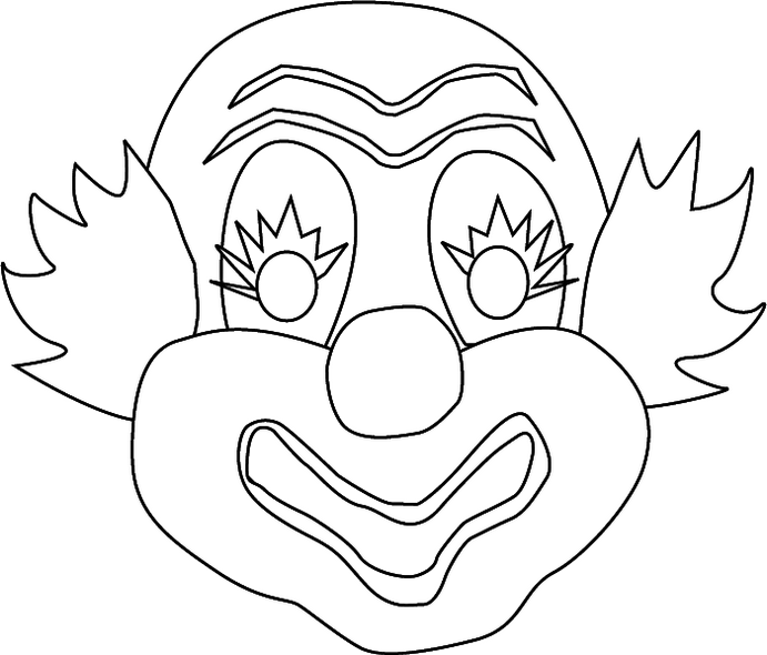 clown-mask-coloring-page-printable