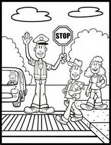 crossing-guard-coloring-page