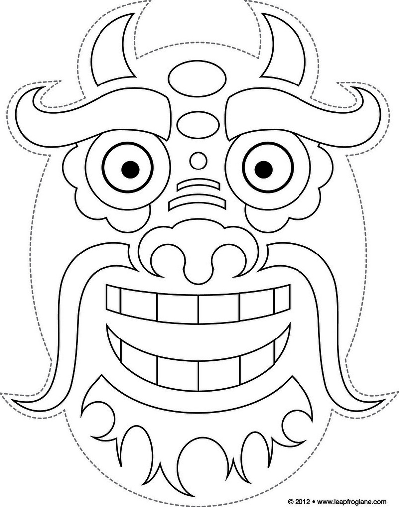 dragon-mask-coloring-page-online