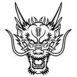 Dragon-mask-print-out-drawing