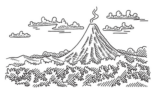 mountain-volcano-coloring-page