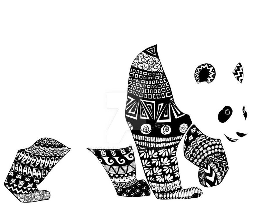 panda_zentangle_coloring_picture