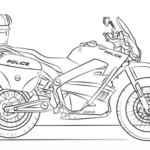 police motorcycle coloring picture