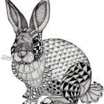 rabbit-zentangle-art-worksheet