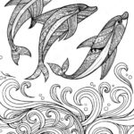 three-zentangle-dolphin-coloring-pages