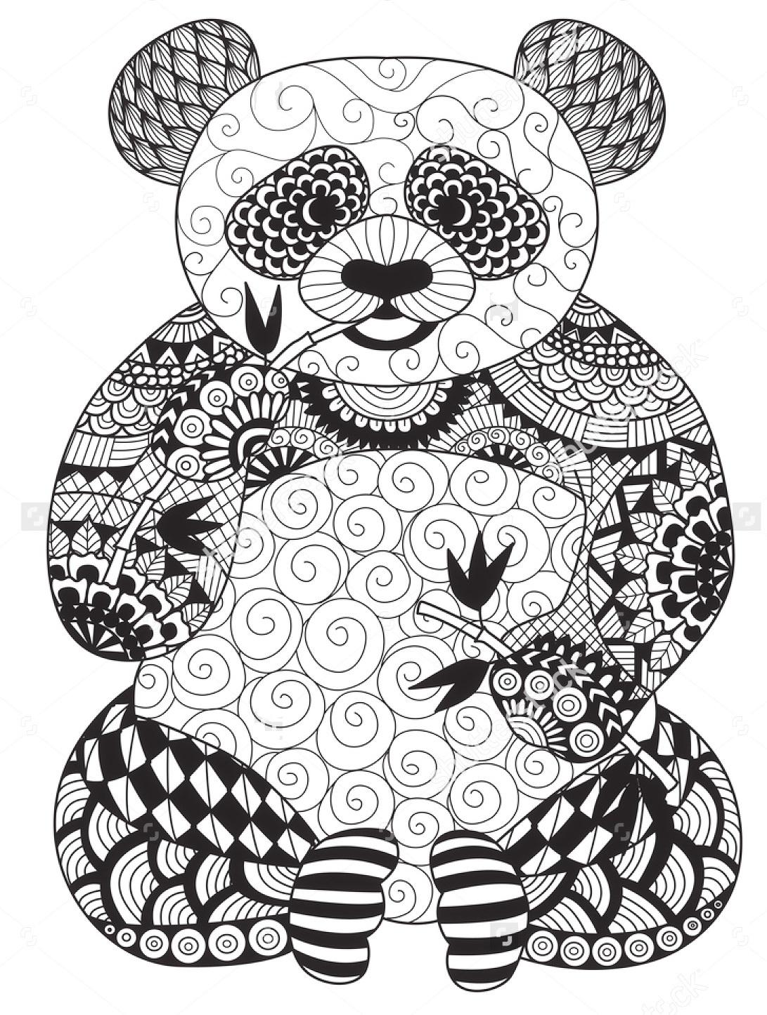 vector-zentangle-panda-coloring-page