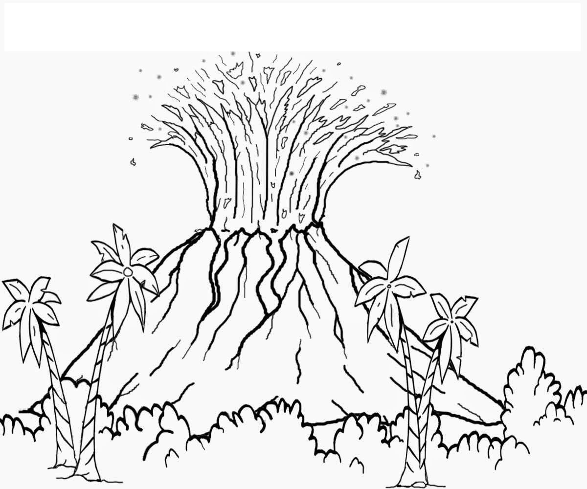 volcano-coloring-pictures