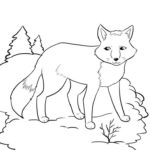 winter-animal-fox-coloring-page