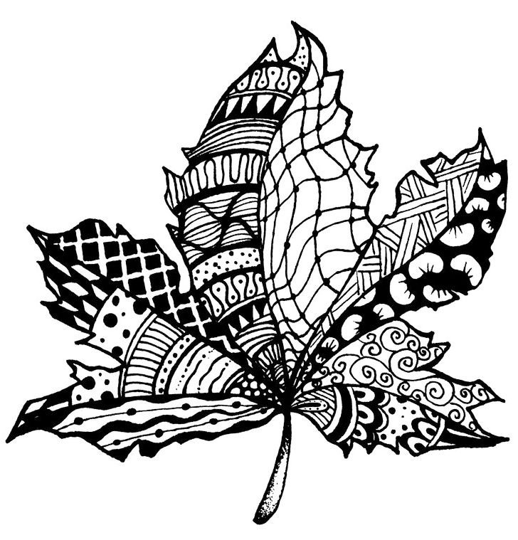 zentangle-leaf-print-out-drawing