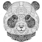 zentangle-panda-face-colouring-sheet