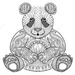 zentangle-panda-print-out-drawing