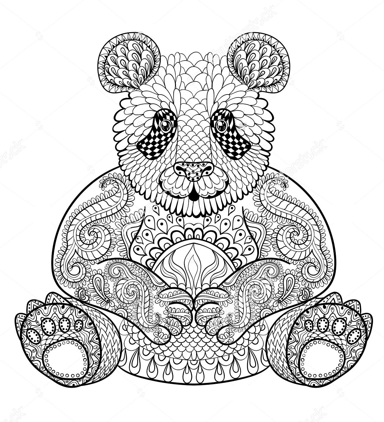 zentangle-panda-print-out-drawing