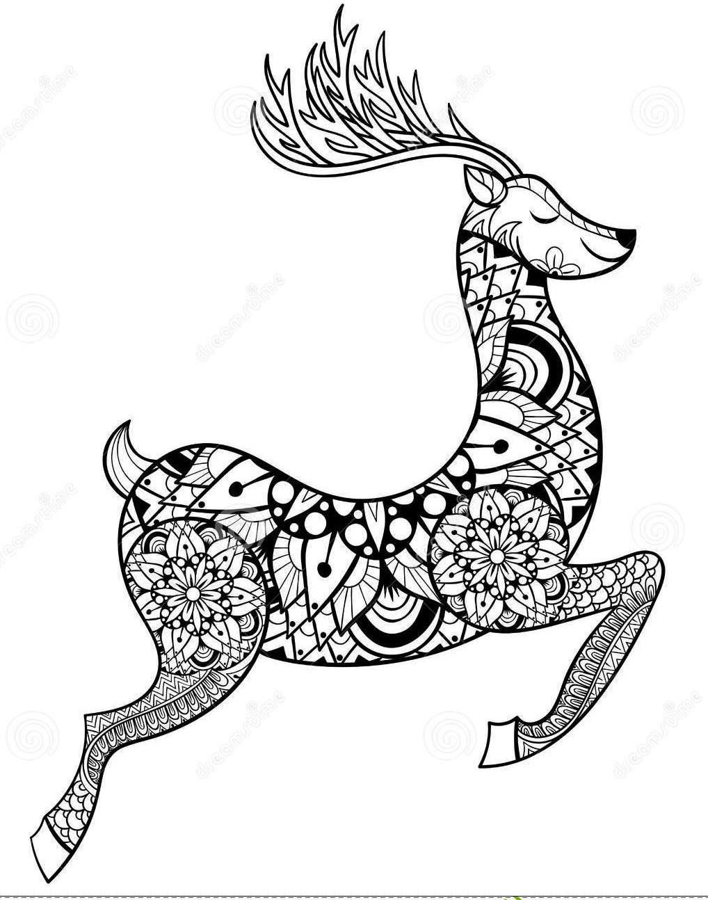 zentangle-vector-reindeer-coloring-pages
