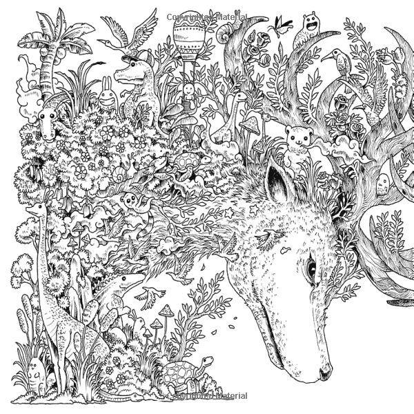 Animorphia Coloring Book Printable
