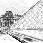Beautiful-Louvre-Paris-Coloring-Pages