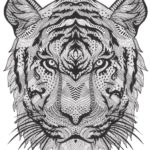 Bestiaire-extraordinaire-tiger-mask-by-Hannah-Davies