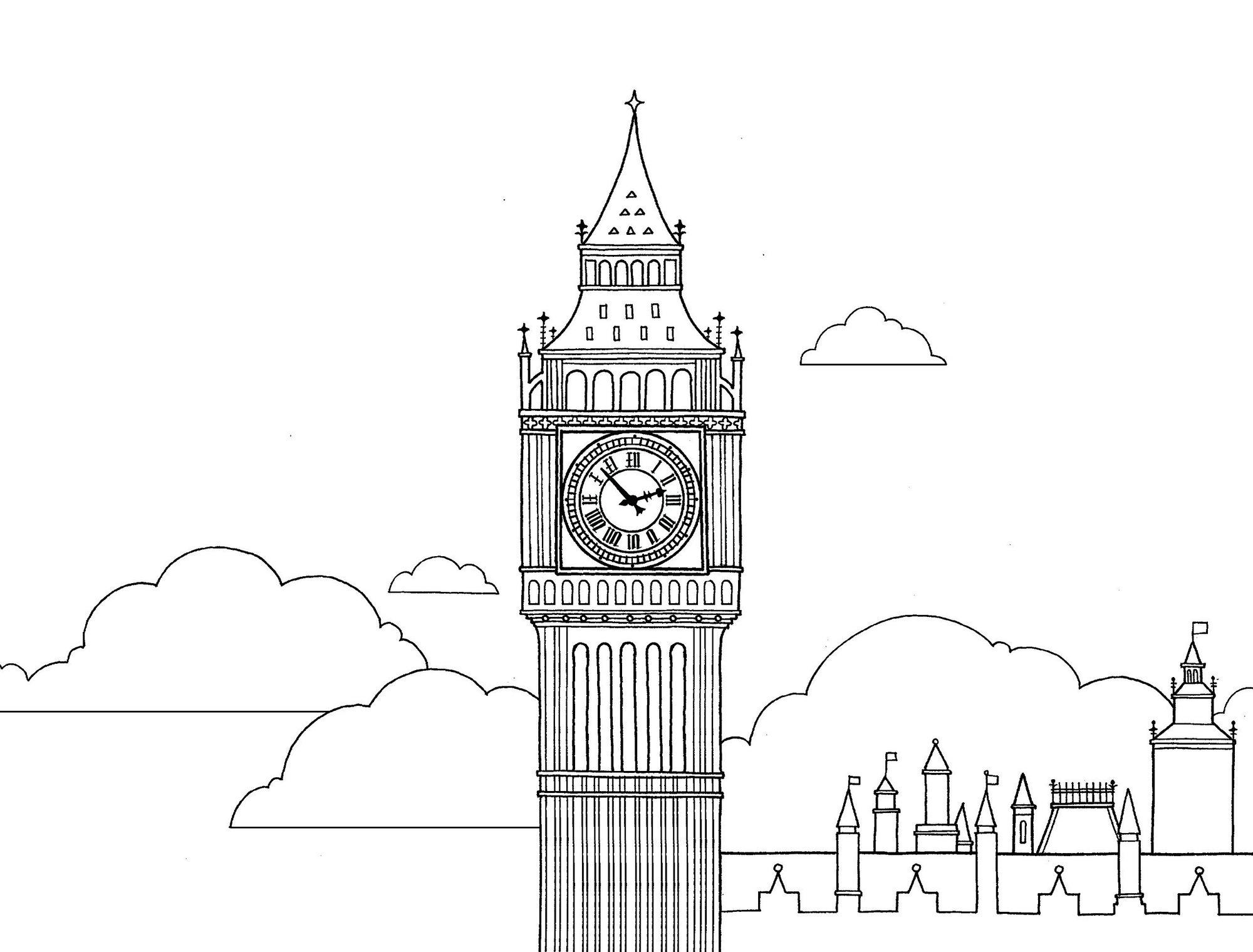 Big-Ben-Elizabeth-Tower-Coloring-Book