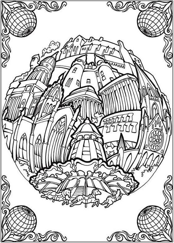 Circular-Cities-Adult-Coloring Book