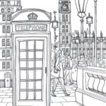 Coloring-Europe-Charming-London-Telephone-Coloring-Page