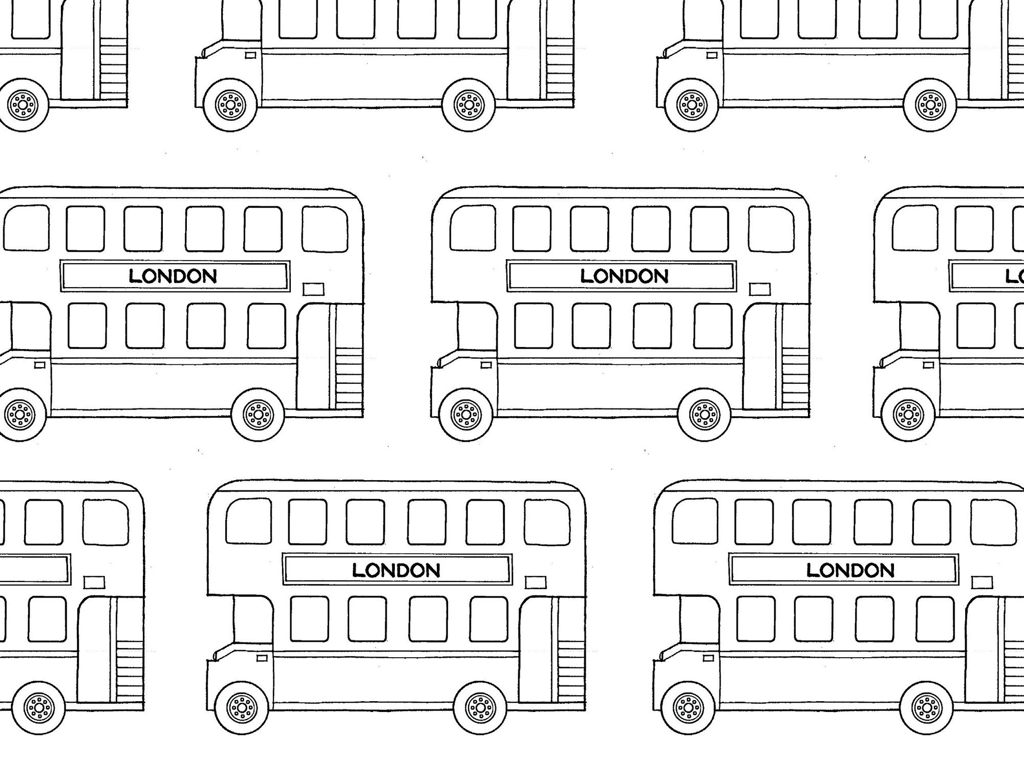 London-double-decker-buses-coloring-page