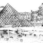 Louvre-Landscape-Paris-Coloring-Sheets