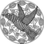 Mosaic-and-Geometric-Bird-Patterns-Coloring-Pages