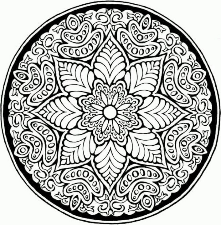 Mosaic-and-Geometric-Flower-Patterns-Coloring-Pages