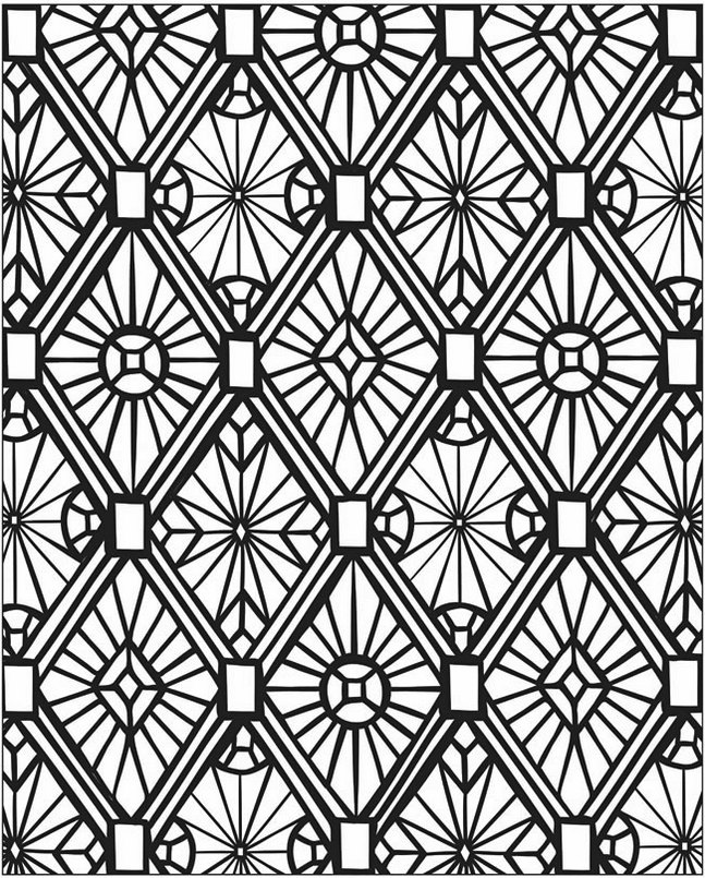 Mosaic-and-Geometric-Patterns-Coloring-Online