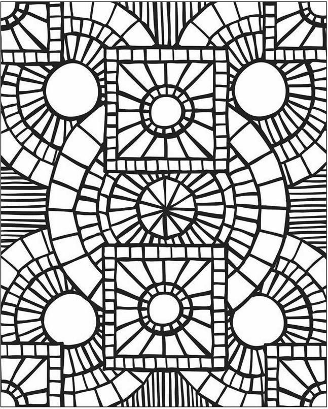 Mosaic-and-Geometric-Patterns-Coloring-Pages