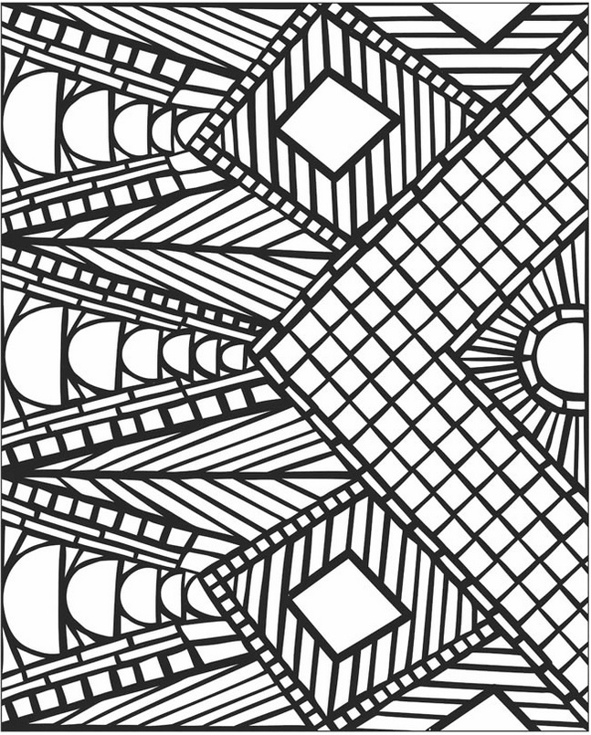 Mosaic-and-Geometric-Patterns-Coloring-Sheets