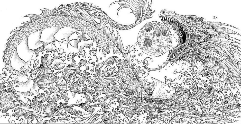 Mythomorphia-dragon-coloring-book