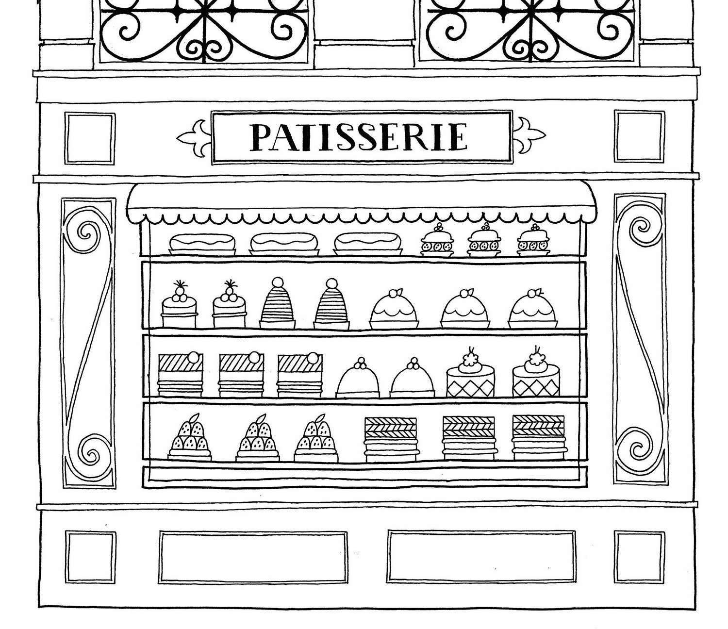Patisserie-Paris-Coloring-Pages