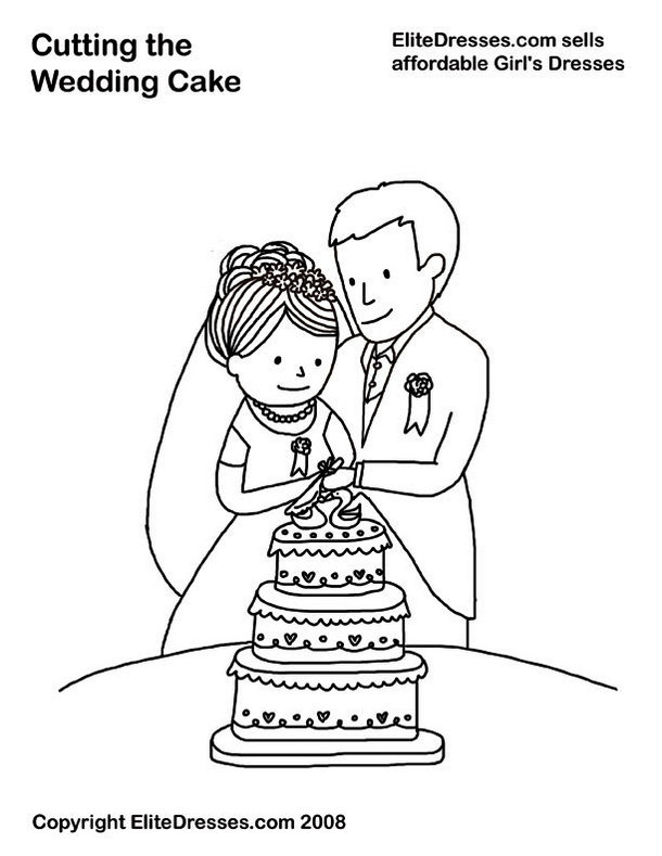 cutting-the-wedding-cake-coloring-page