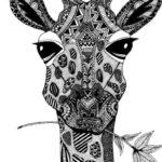 giraffe-mandala-colouring-page