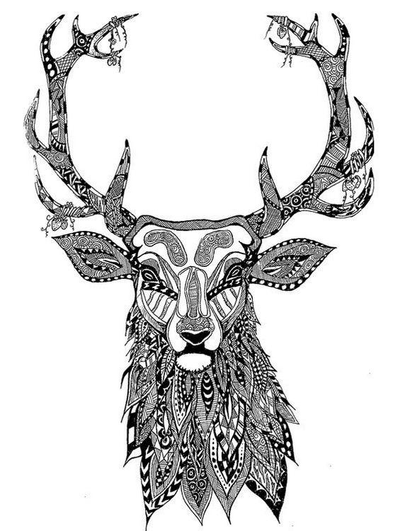 head-of-a-dear-mandala-coloring-page