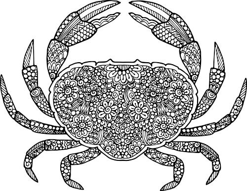 mandala-crab-coloring-picture-to-print