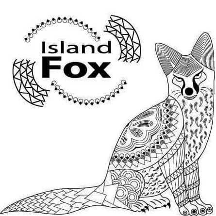 Mandala Fox Print Out Drawing