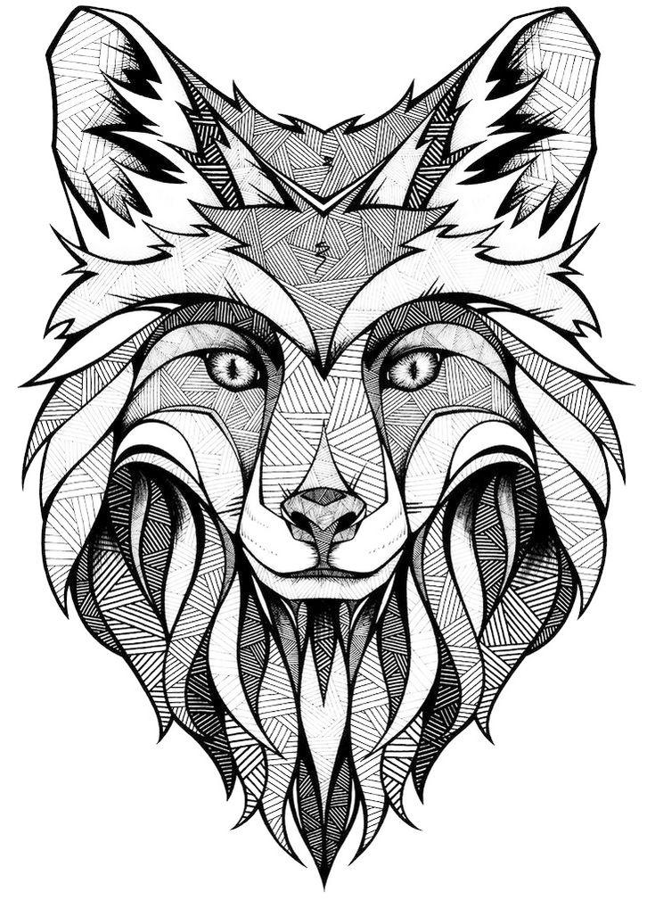 mandala-fox-face-coloring-page