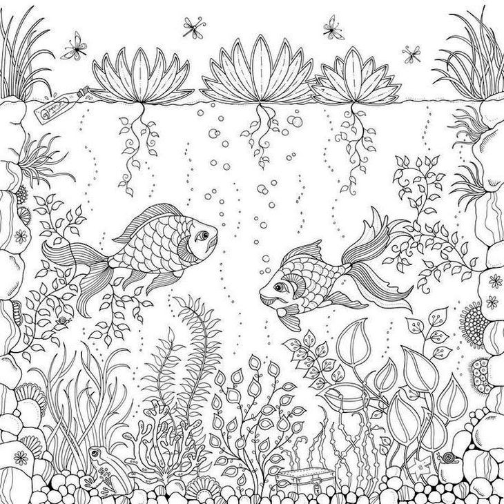 Under of Ocean coloring page