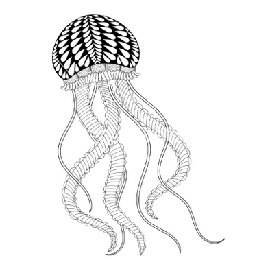 sea-jellyfish-zentangle-coloring-page-for-adult