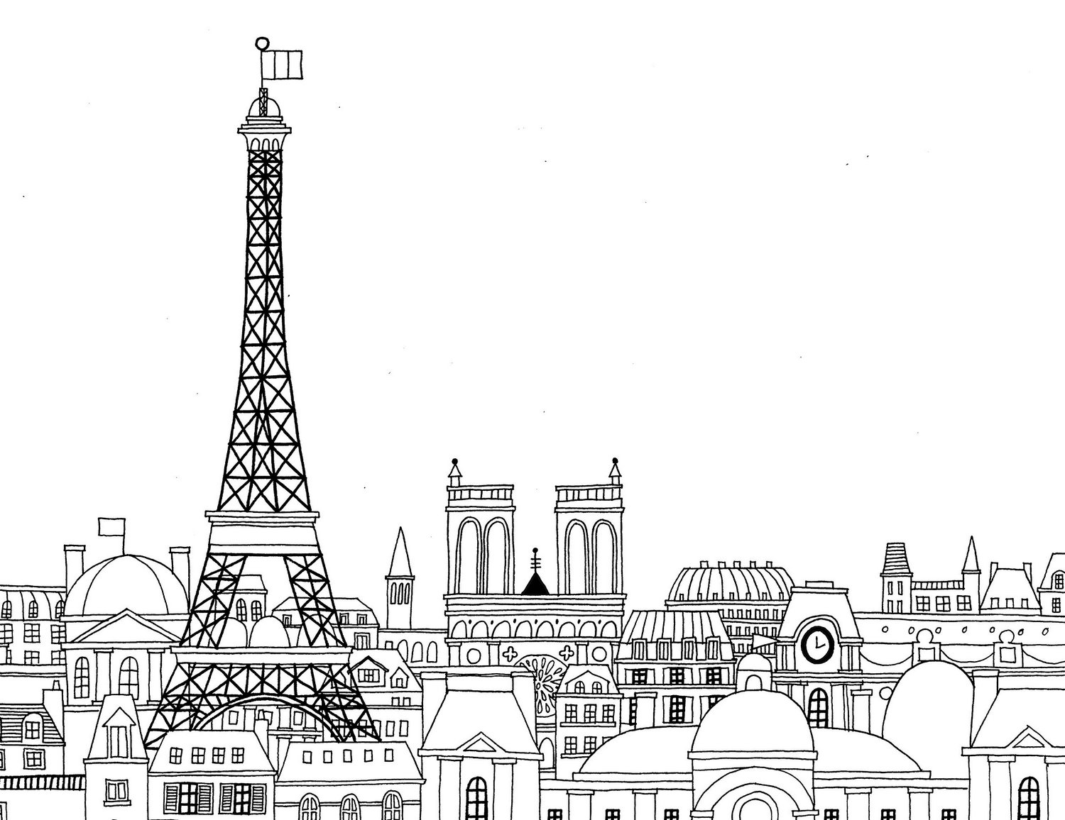 the-Eiffel-Tower-Paris-Coloring-Pages