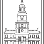 Independence-Hall-Philadelphia-Coloring-Sheet